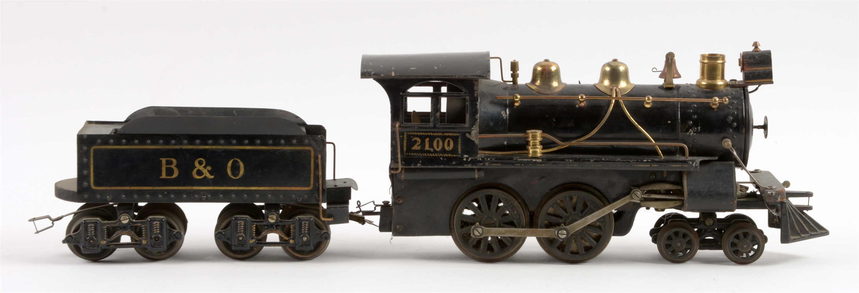 Lot Of 2: Very Early Voltamp No. 2100 Engine with B&O Tender.