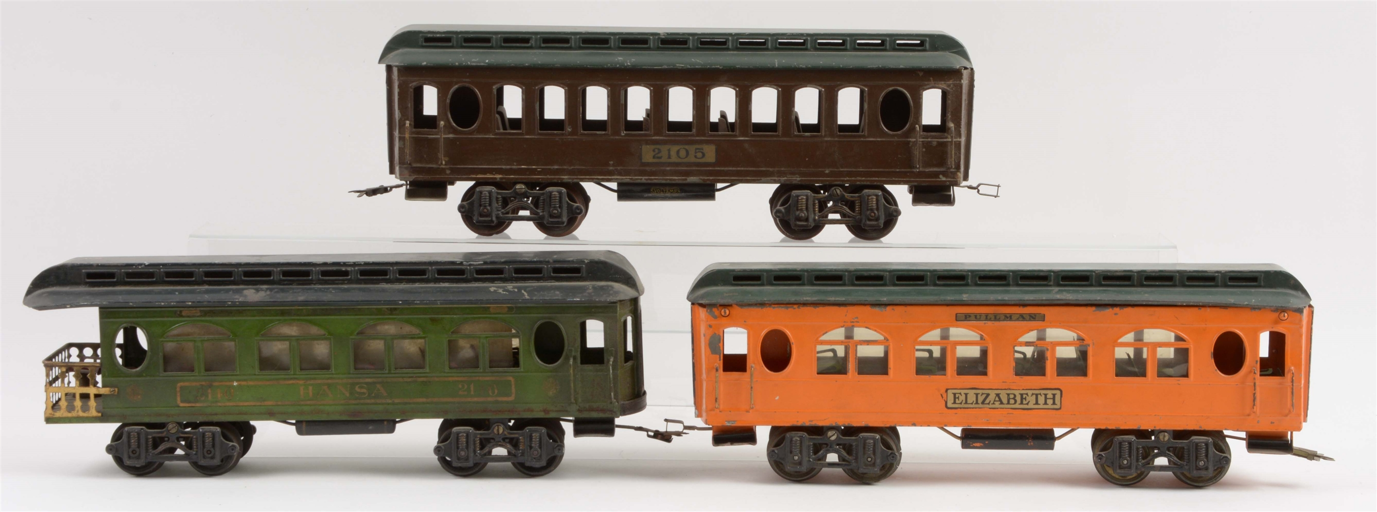 Lot of 3: Early Voltamp Passenger Cars.