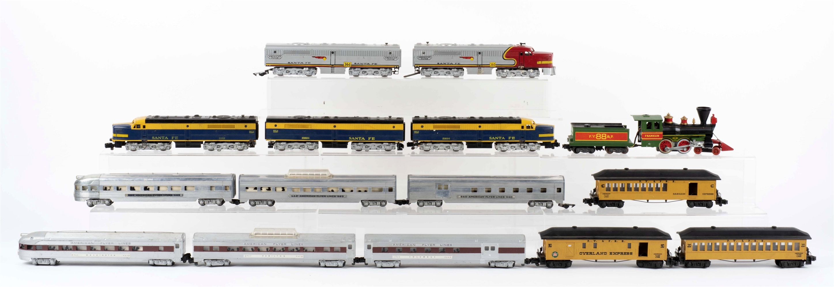 Lot Of 15: American Flyer Trains.