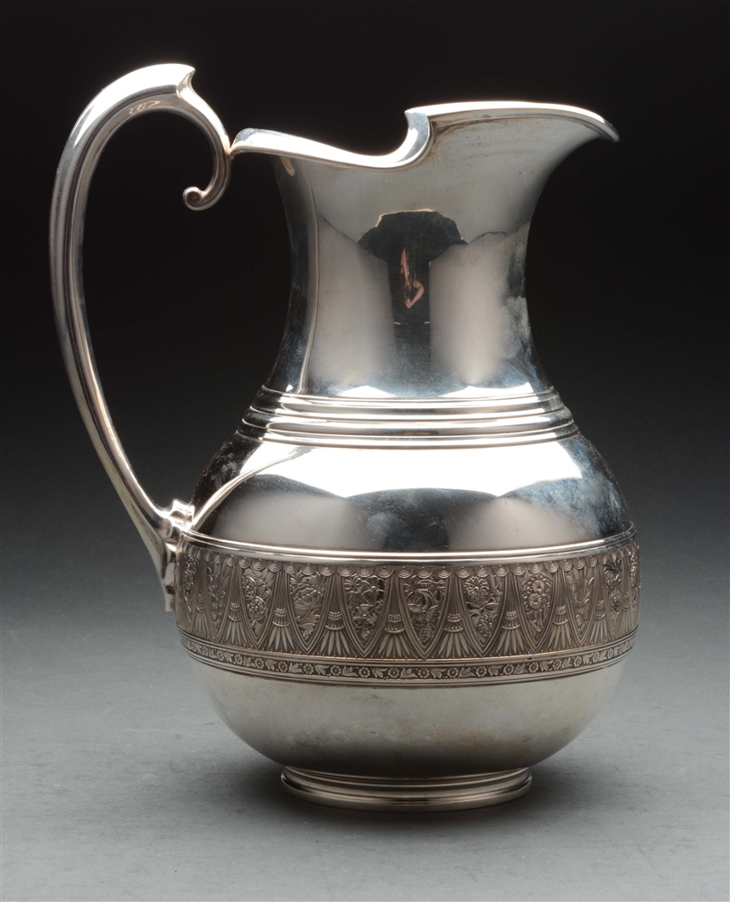 Early Gorham Silver Water Pitcher.