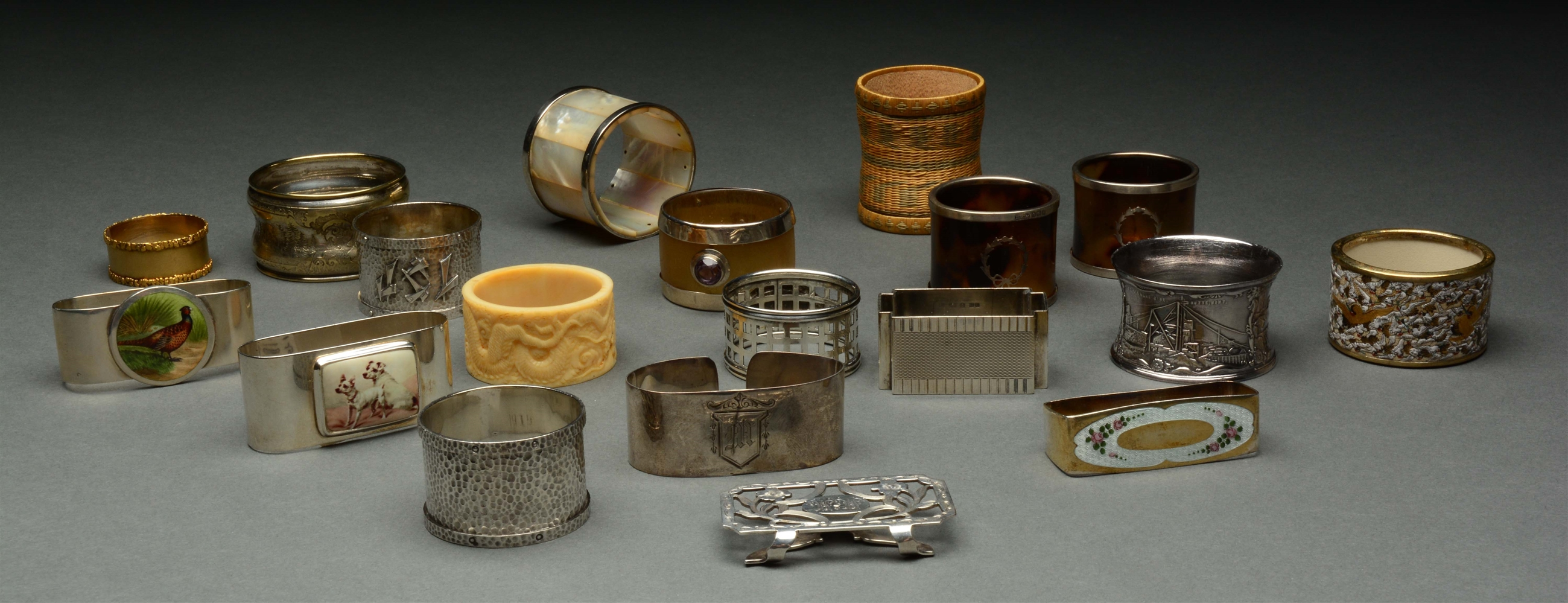 Lot of 19: Unusual Napkin Rings.