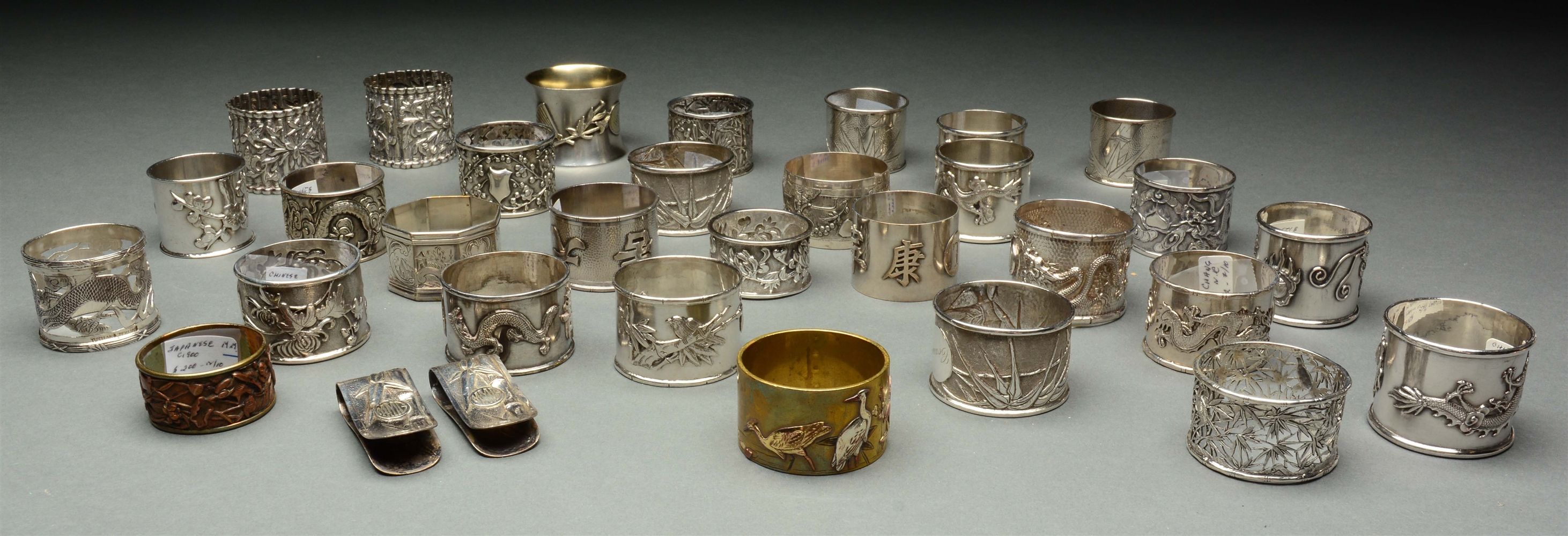 Lot Of 32: Chinese Export Napkin Rings.