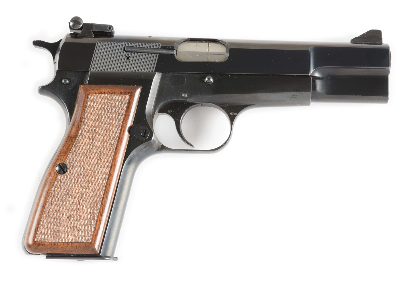 (M) Browning Hi-Power Semi-Automatic Pistol with Holster (1973).