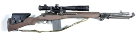 (M) Scoped LRB M1A Semi-Automatic Rifle with accessories.