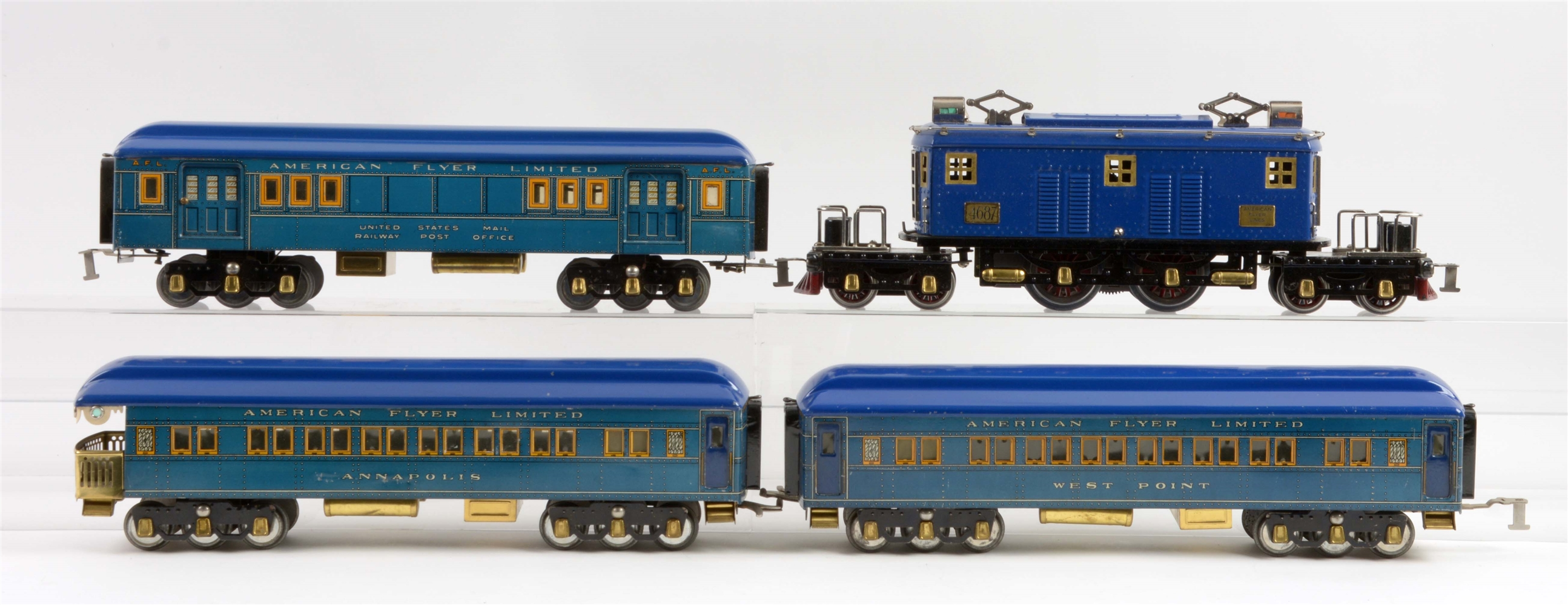 Lot Of 4: American Flyer Standard Gauge President Special Passenger Train Set With 4 Boxes.