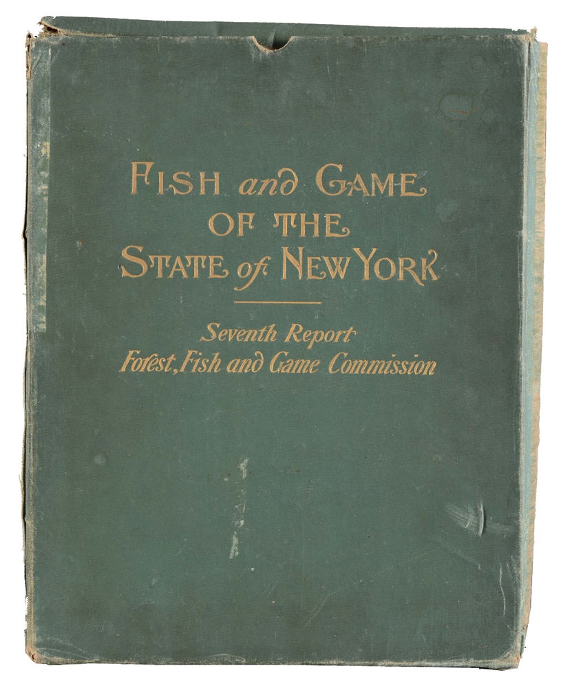 PORTFOLIO OF 100 LITHOGRAPHS, SEVENTH REPORT OF THE FOREST, FISH AND GAME COMMISSION OF THE STATE OF NEW YORK.