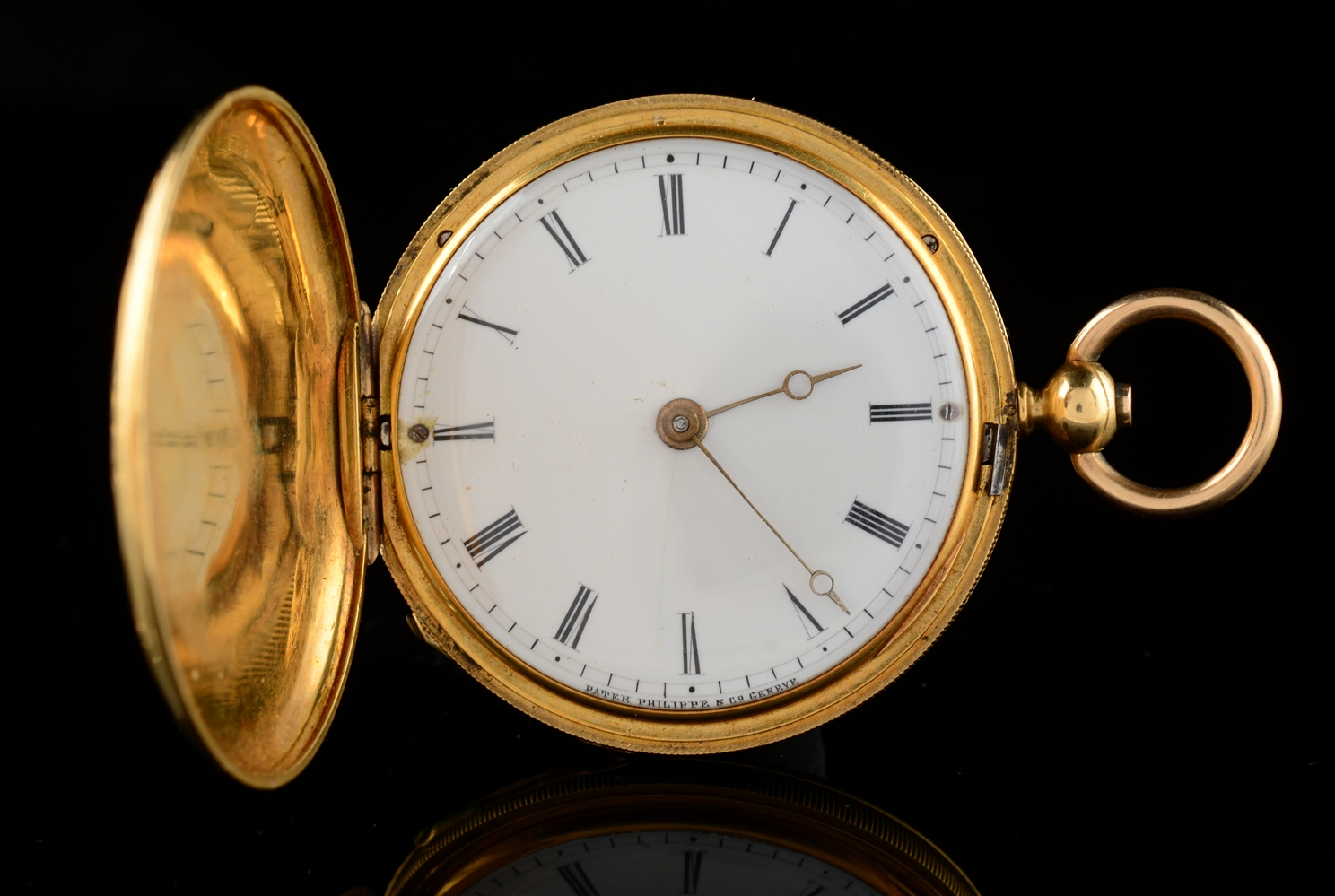 18K Gold Patek Philippe H/C Pocket Watch.