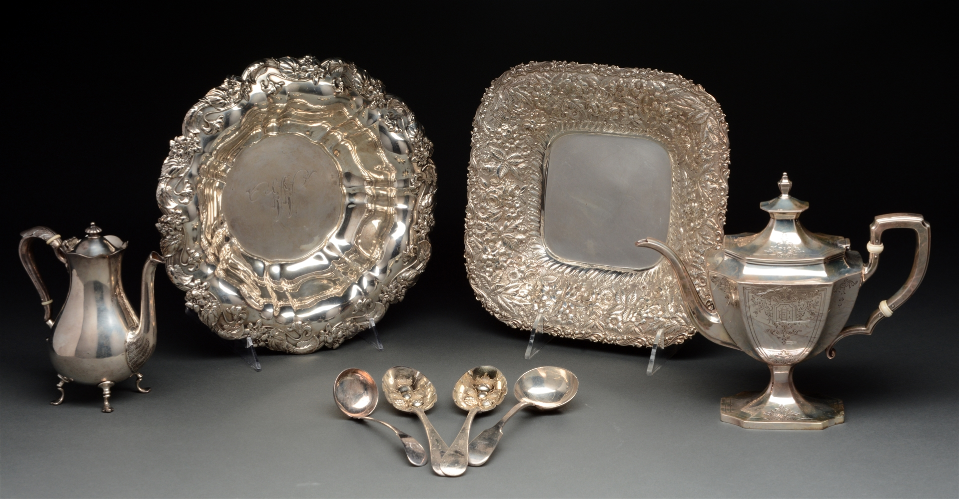 Six Sterling Silver Serving Items.