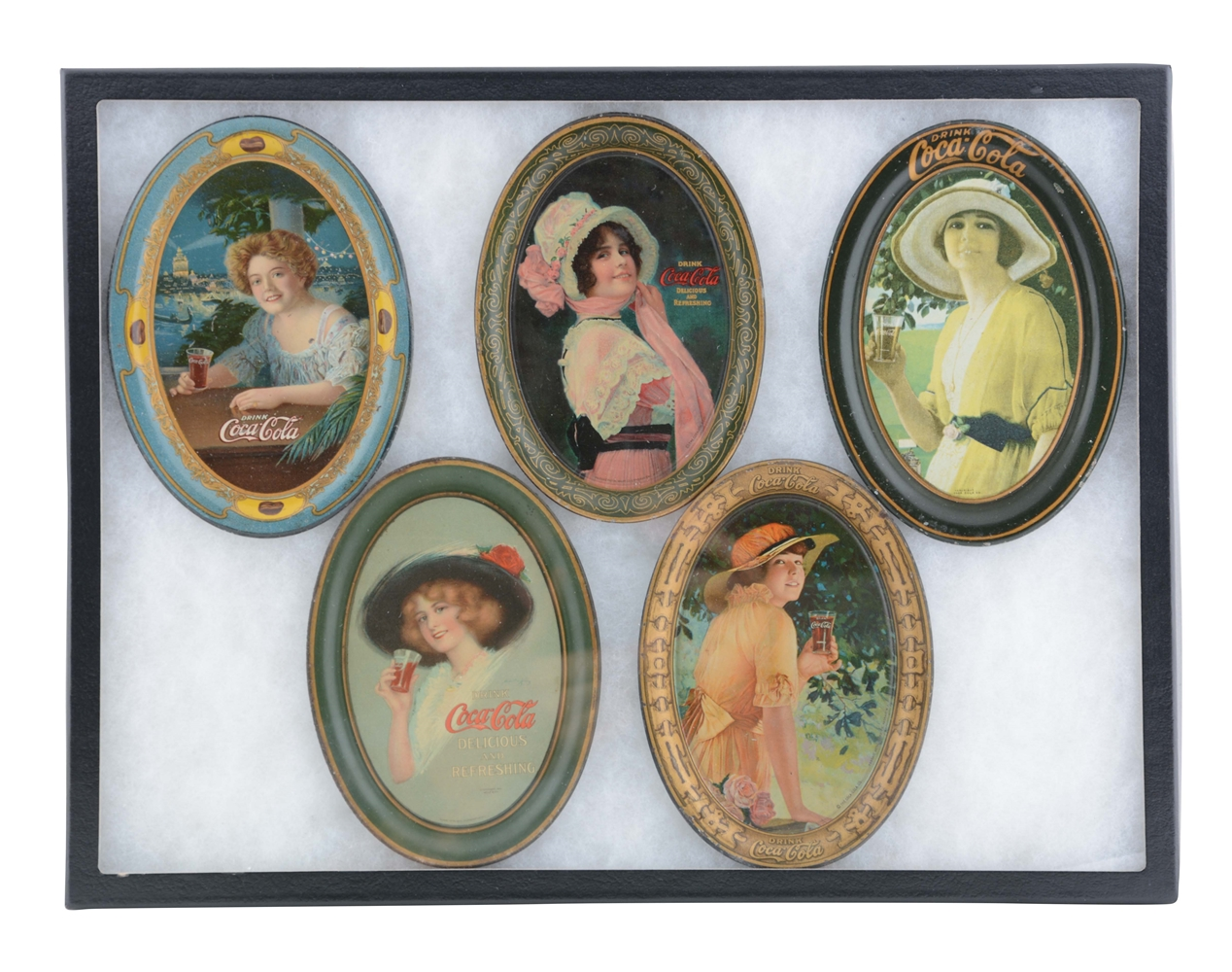 Group Of 5: Coca-Cola Tip Trays.