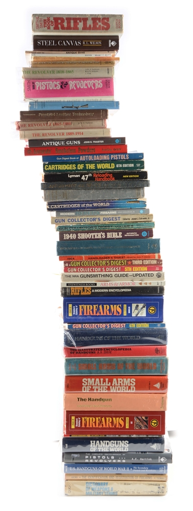 Huge Lot of Over 80 Firearms & Militaria Reference Books - Mostly Soft Bound.