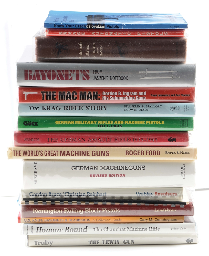 Lot of 16: Mostly Hard Bound Firearms Reference Books.