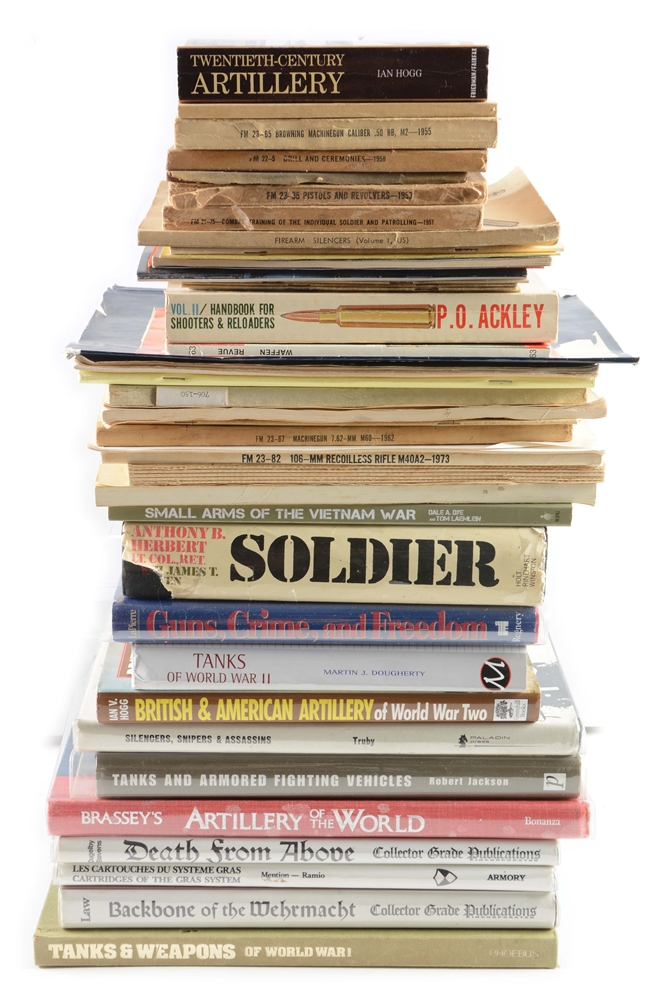 Large Lot of Reference Books Related to Military.