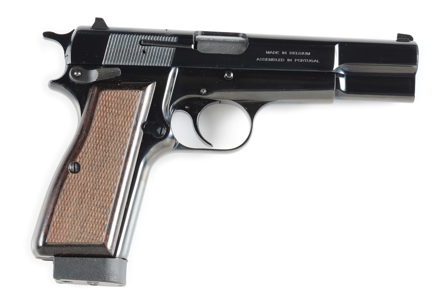(M) Browning Hi-Power Semi-Automatic Pistol with KRD Magazines.