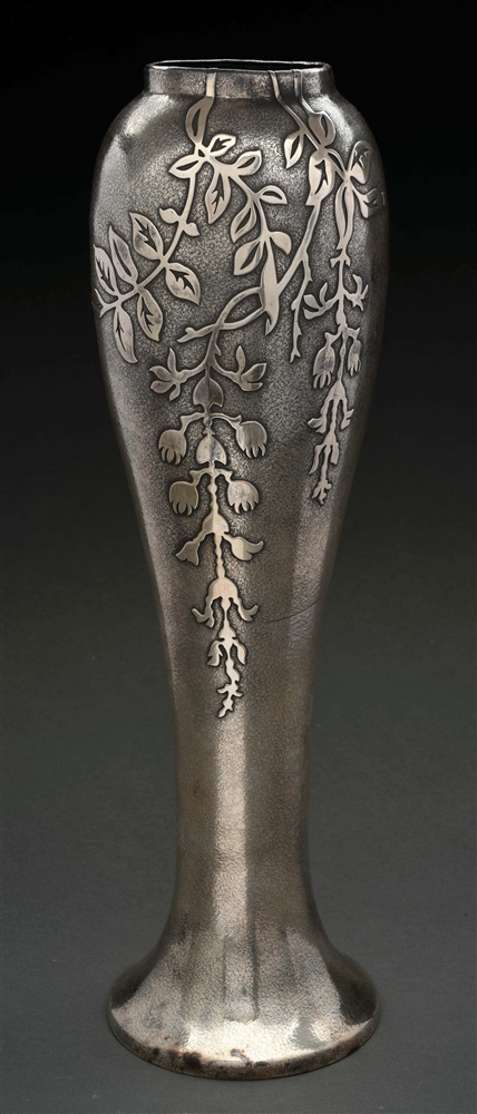 Silvercrest Sterling Silver on Bronze Decorated Vase.