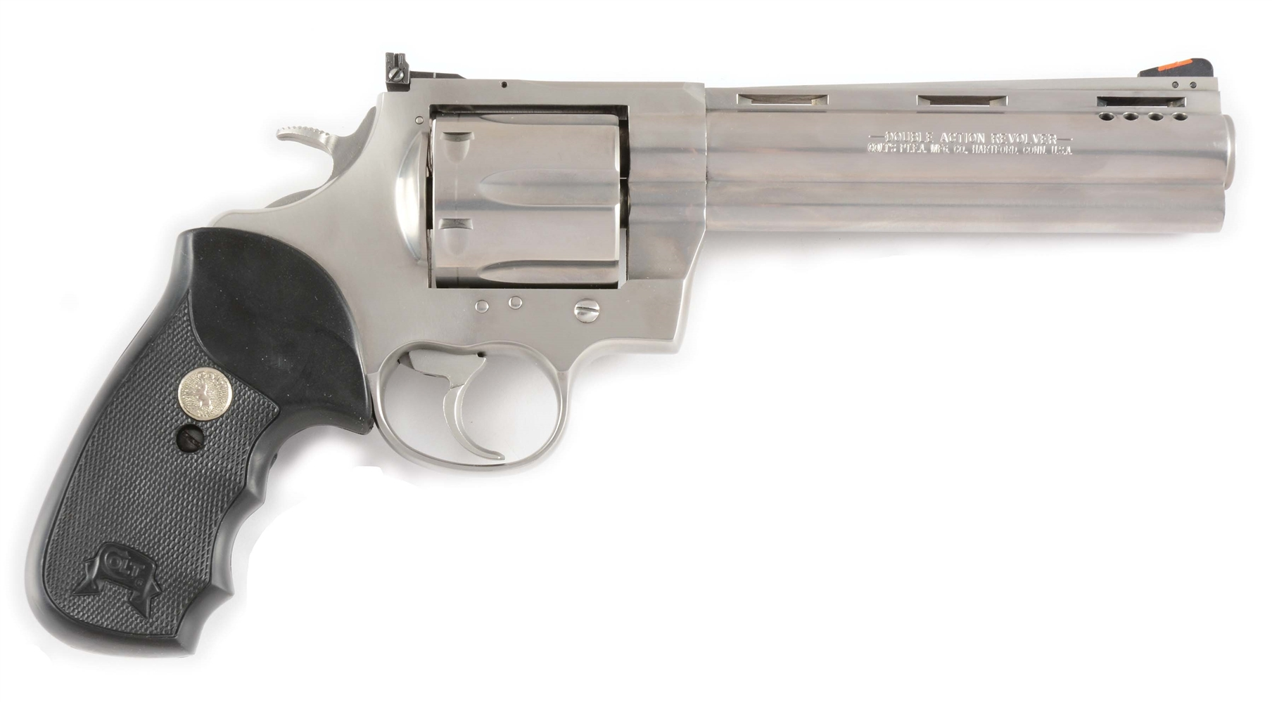 (M) Cased Colt Anaconda Ported Double Action Revolver (1997).