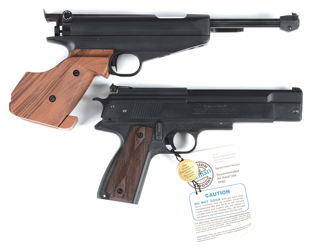 Lot of 2: Feinwerkbau M65 and Beeman P1 Magnum Air Pistols.