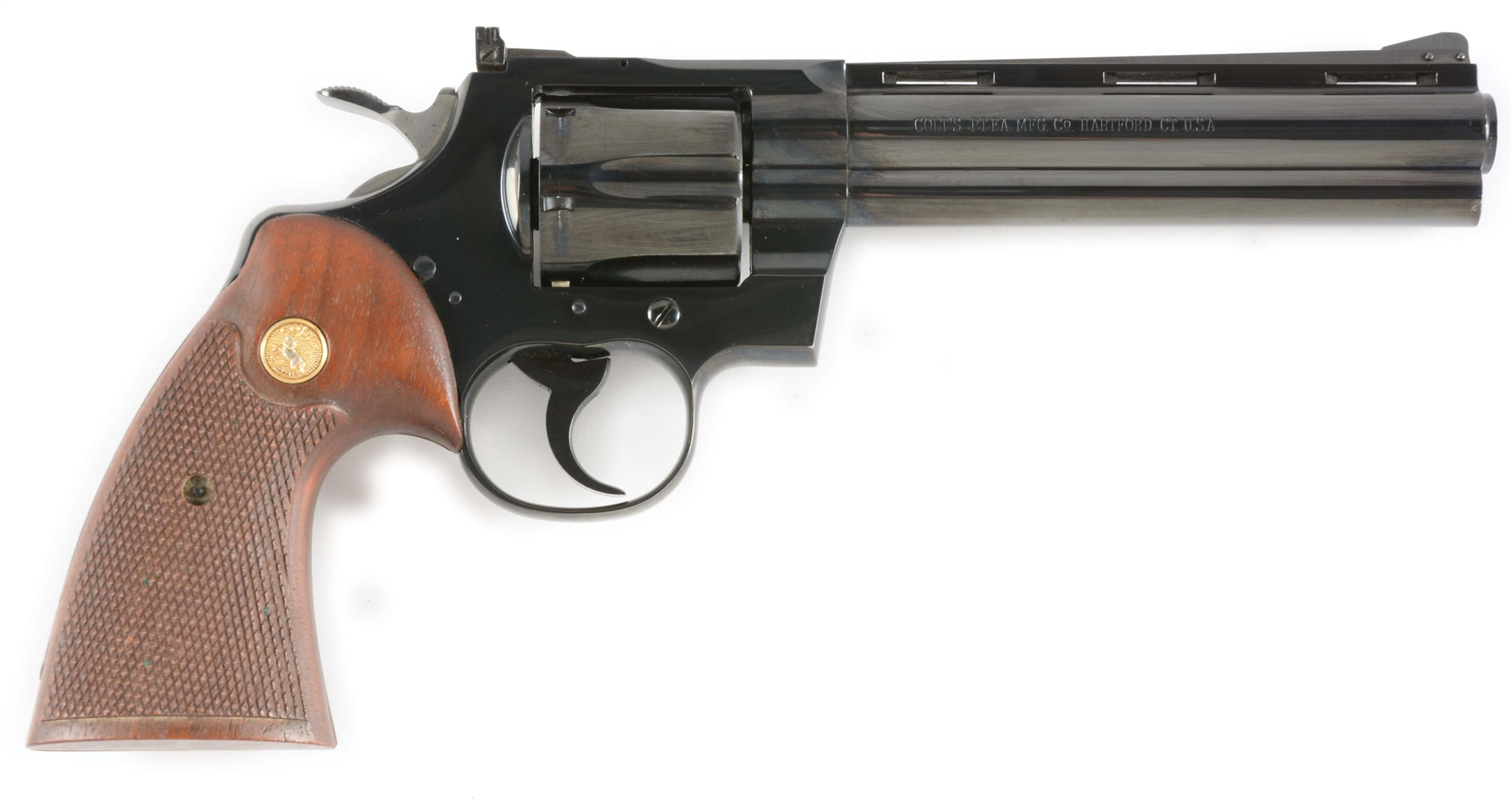 (C) Early High Condition Colt Python Double Action Revolver (1962).