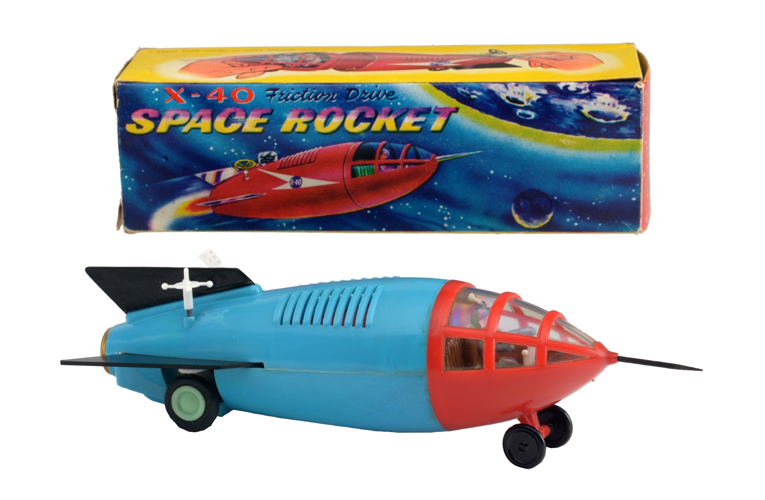 Plastic Friction X-40 Space Rocket.