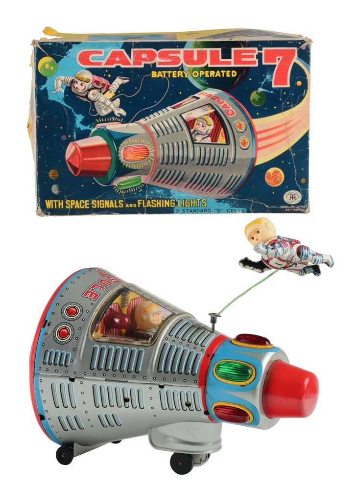 Tin Litho Battery Operated Space Capsule 7.