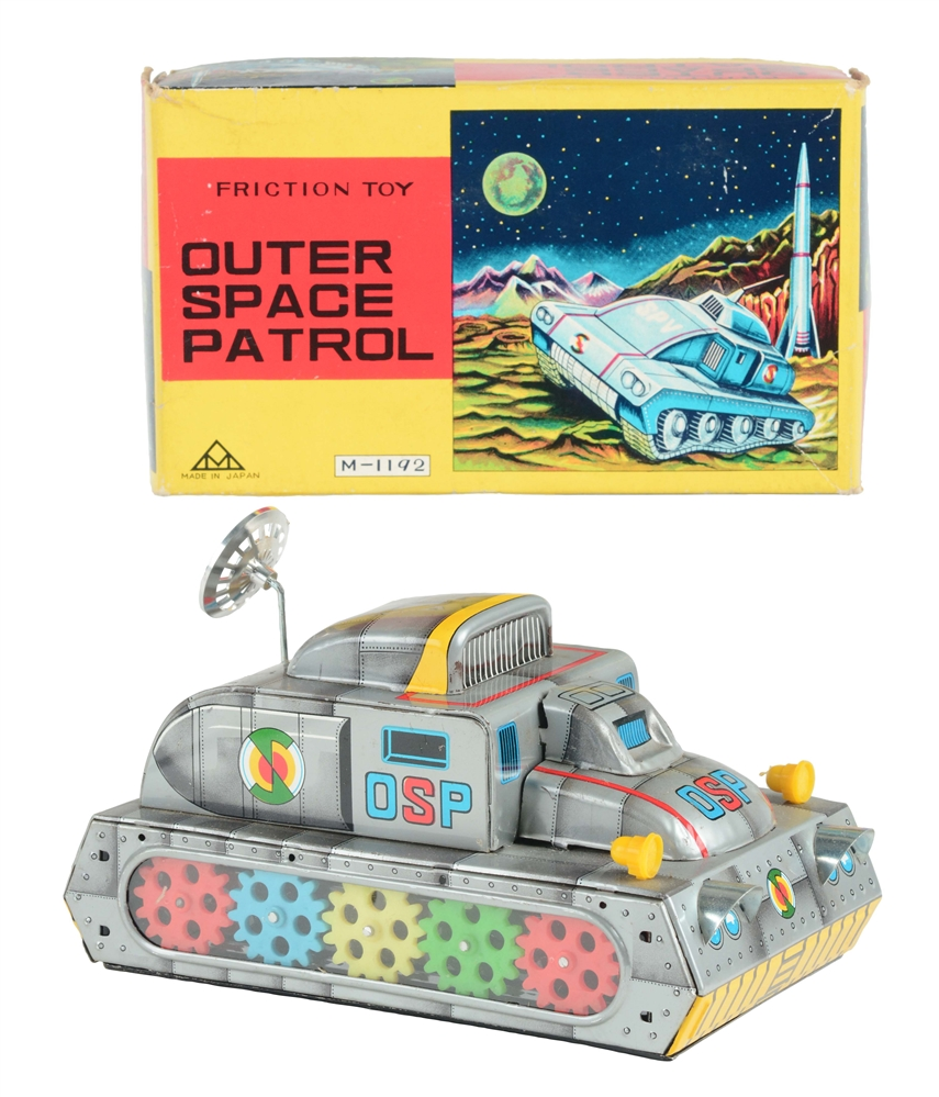 Tin Litho Friction Outer Space Patrol.