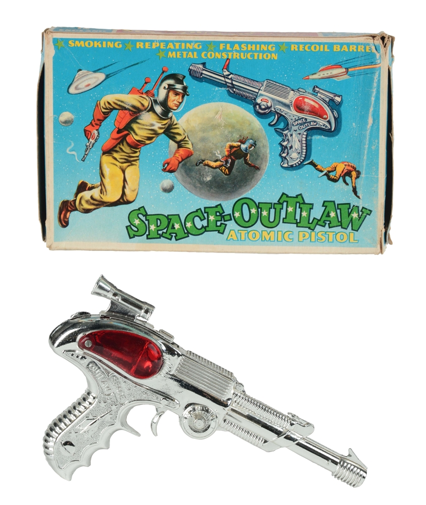 Die-Cast Space Outlaw Atomic Pistol.