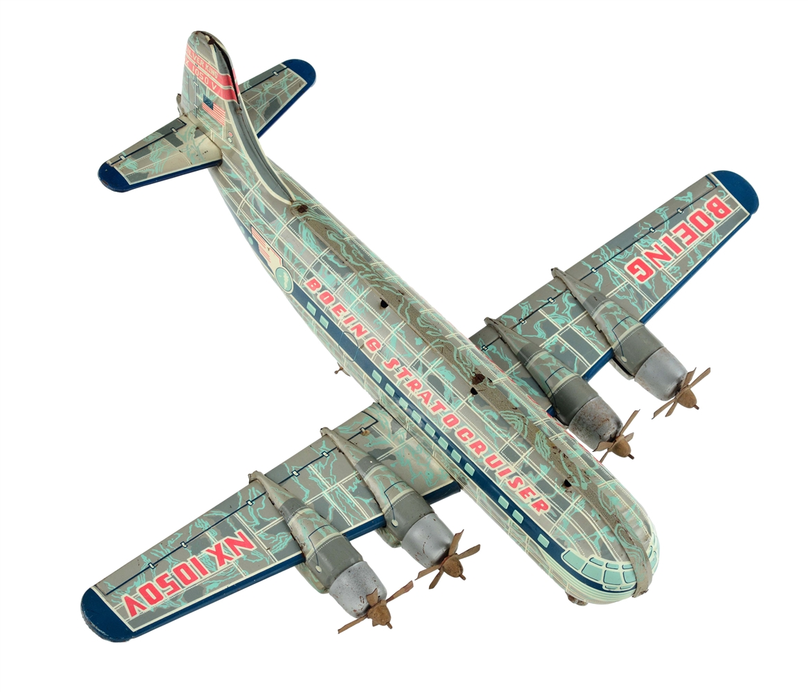 Tin Litho Friction Boeing Stratocruiser Silver King.