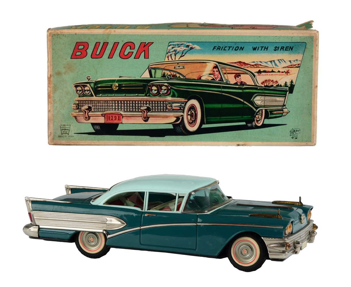 Tin Litho and Painted Friction 1958 Buick Century.