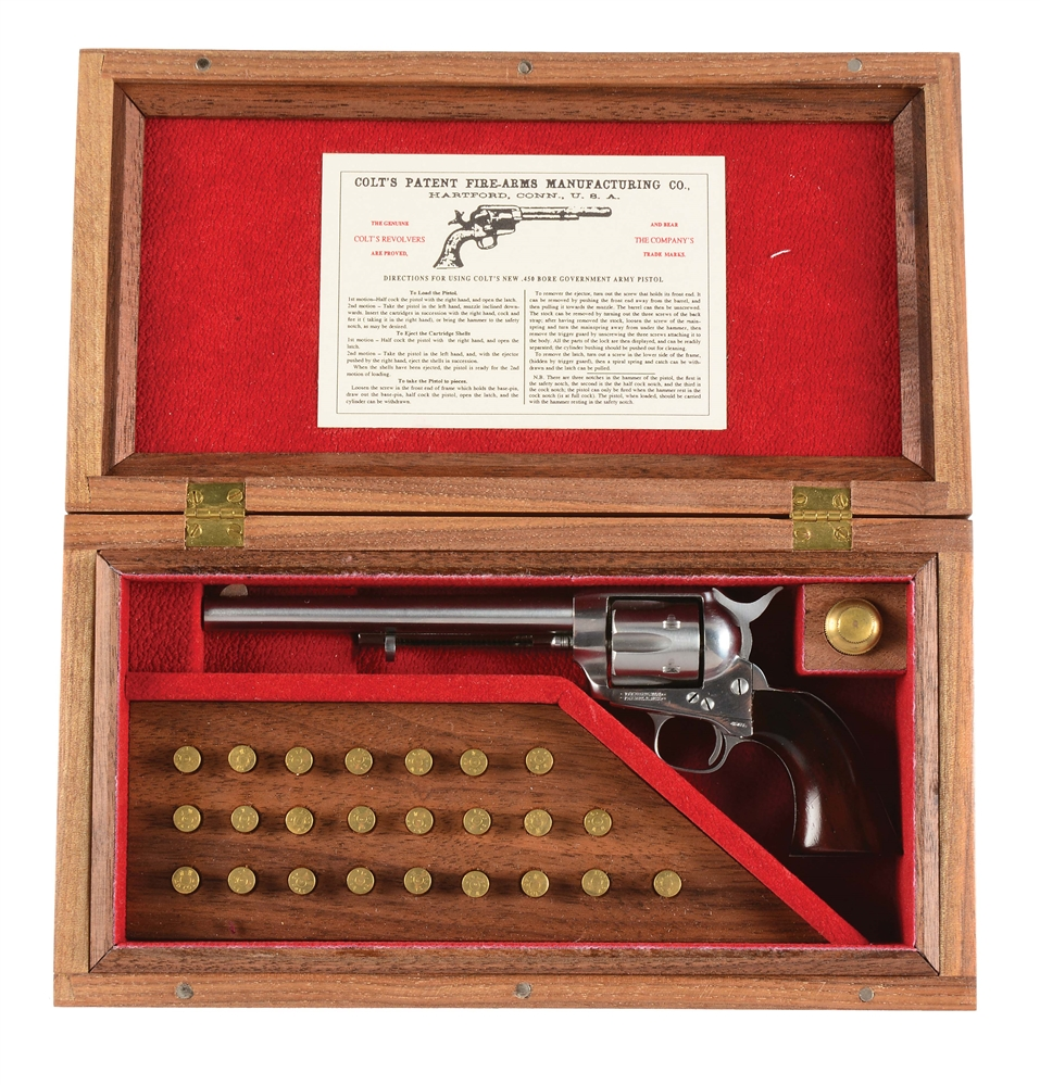 Imperial Miniature Armory Colt Single Action Army cased with Accessories.