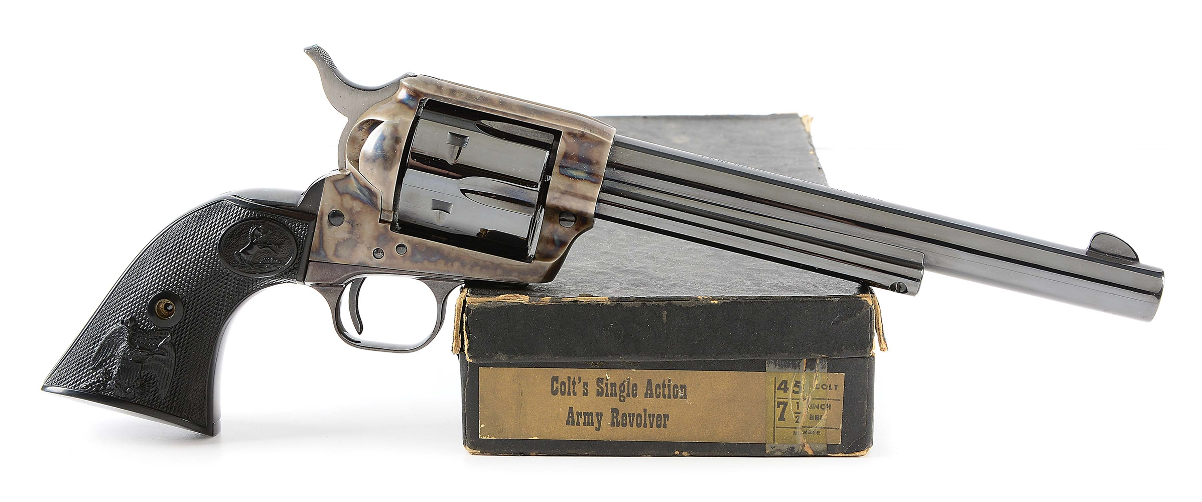(M) Boxed 2nd Generation Colt Single Action Army Revolver (1974).