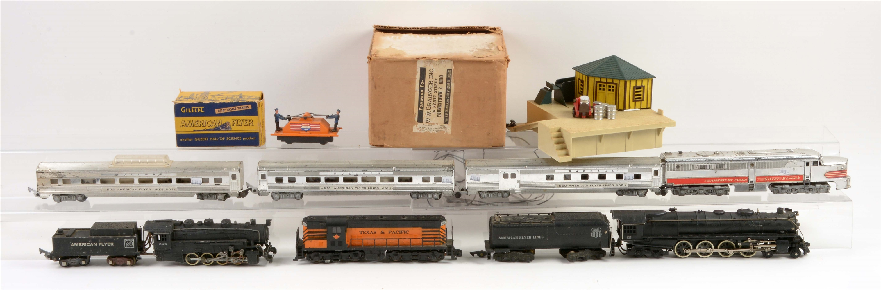 Lot Of 11: American Flyer S Gauge Trains.
