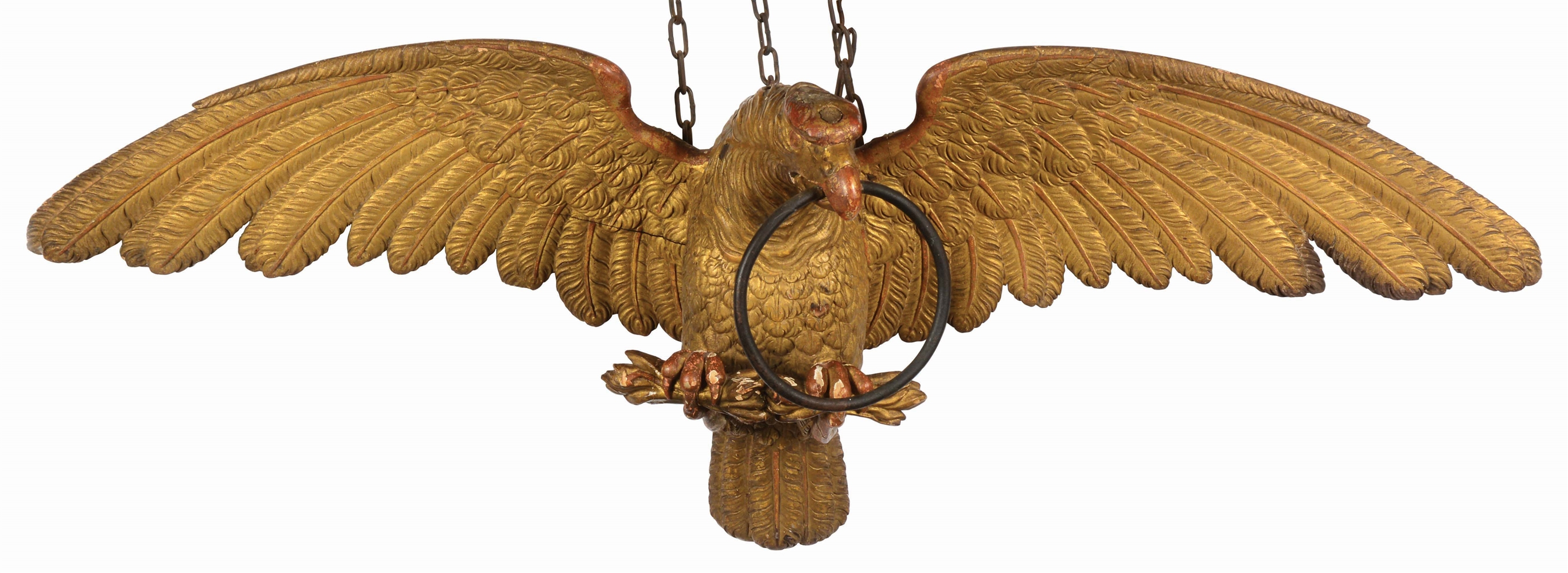 Extraordinary and Rare Carved and Gilt Patriotic Eagle.