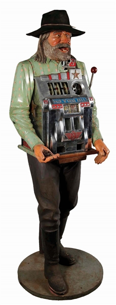 **5¢ Pace 8 Star Bell Original Polk Miner Slot Machine.