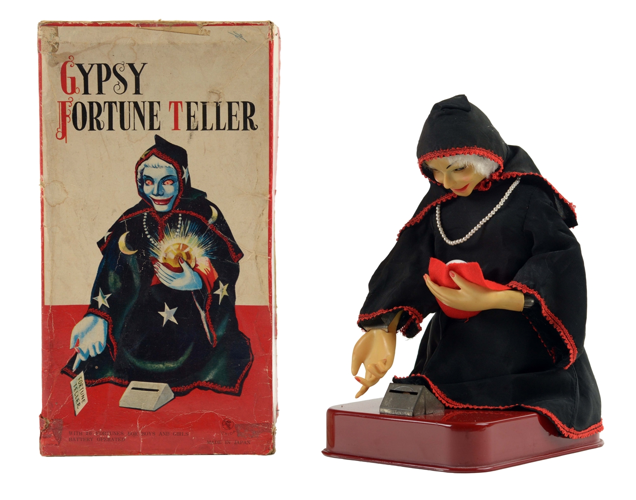 Japanese Battery Operated Gypsy Fortune Teller Toy.
