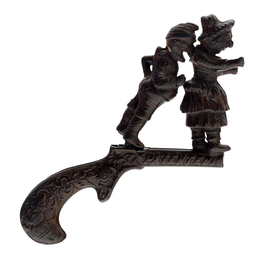 Cast Iron Ives Punch & Judy Animated Cap Pistol.