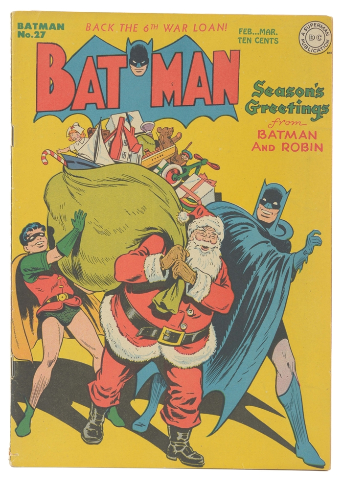 1945 Batman No. 27 Comic Book.