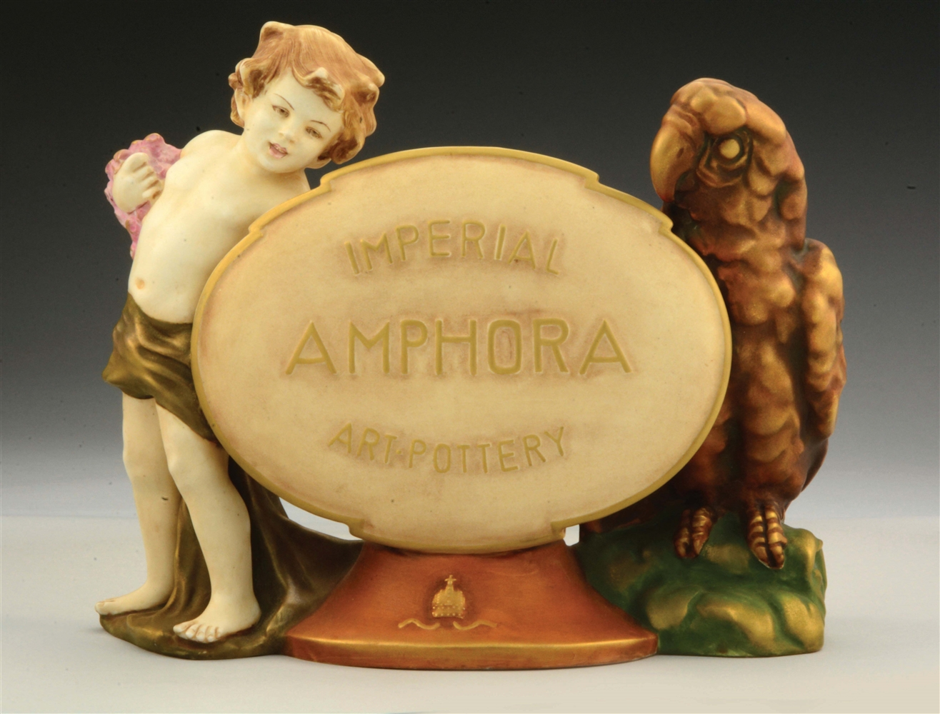 Extremely Rare Ceramic Amphora Art Pottery Showroom Display Sign.