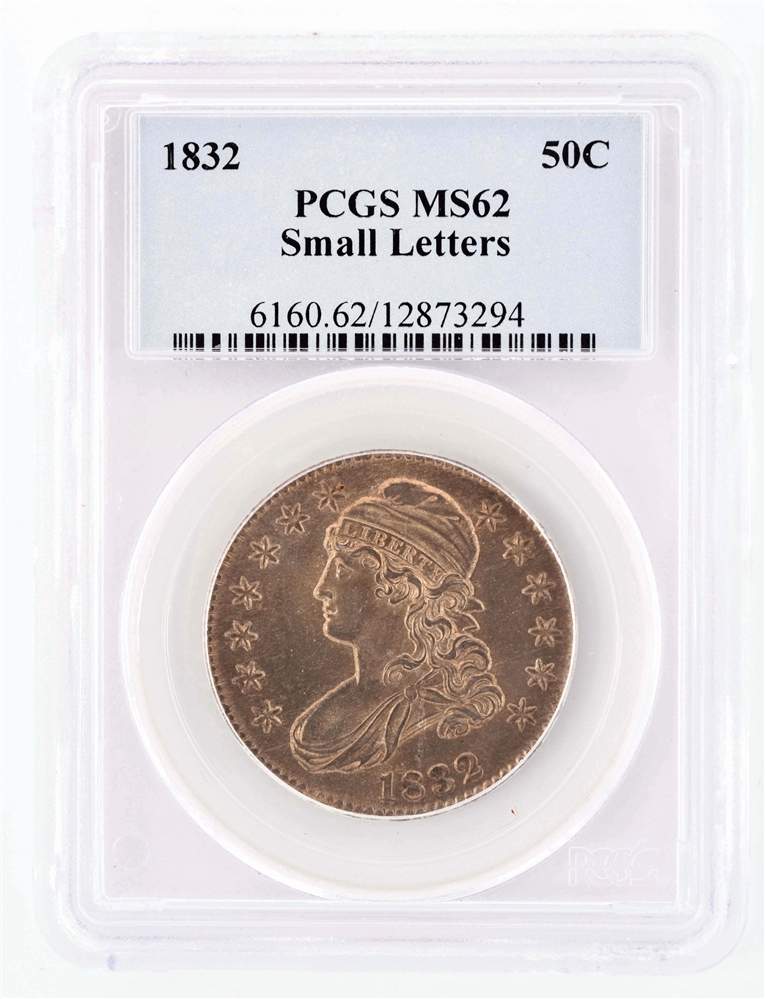 1832 50 Cent Capped Bust.