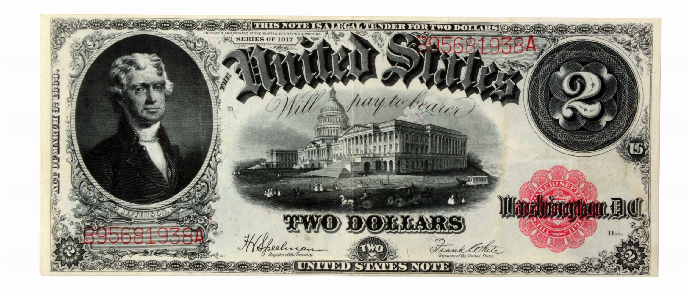 $2.00 1917 United States Note FR 60.