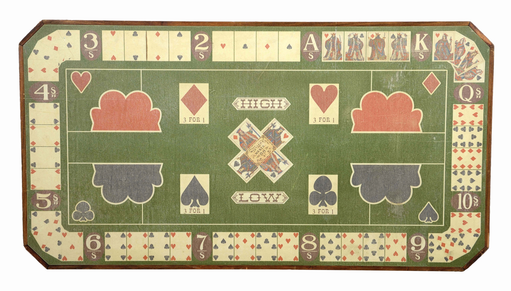 "VINTAGE ""DIANA"" CARD GAME LAYOUT."