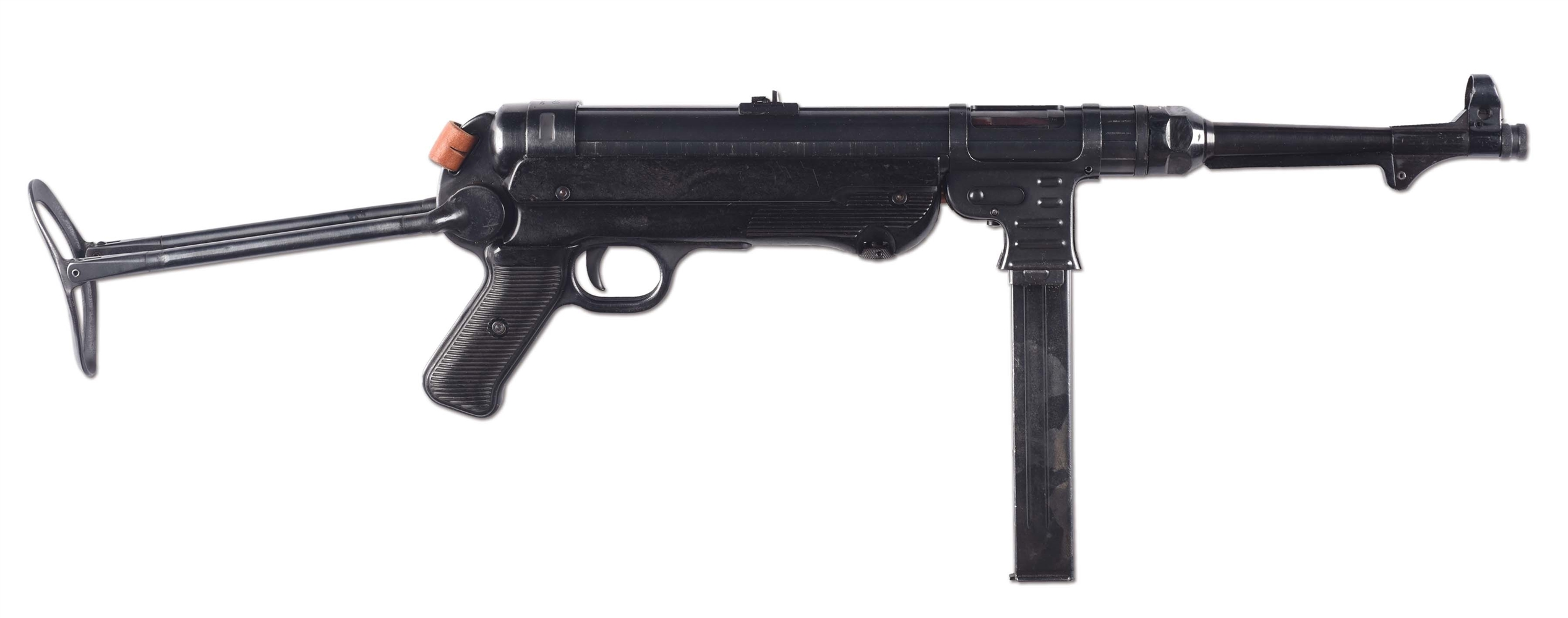 (N) EXCEPTIONAL CONDITION GERMAN MP-40 ON WILSON REGISTERED TUBE MACHINE GUN (FULLY TRANSFERABLE).