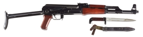 (N) EXCEPTIONALLY ATTRACTIVE FLEMING REGISTERED RUSSIAN FOLDING STOCK AK-47 MACHINE GUN (FULLY TRANSFERABLE).