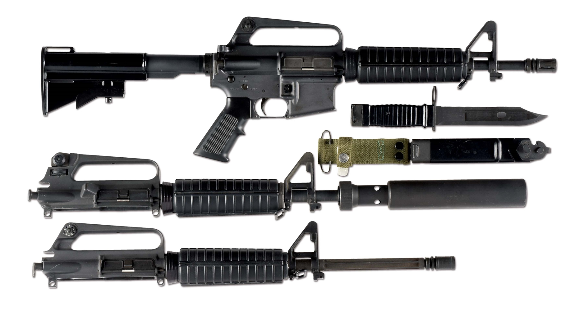 Lot Detail - (N) COLT M16A2 MACHINE GUN WITH KNIGHTS ARMAMENT