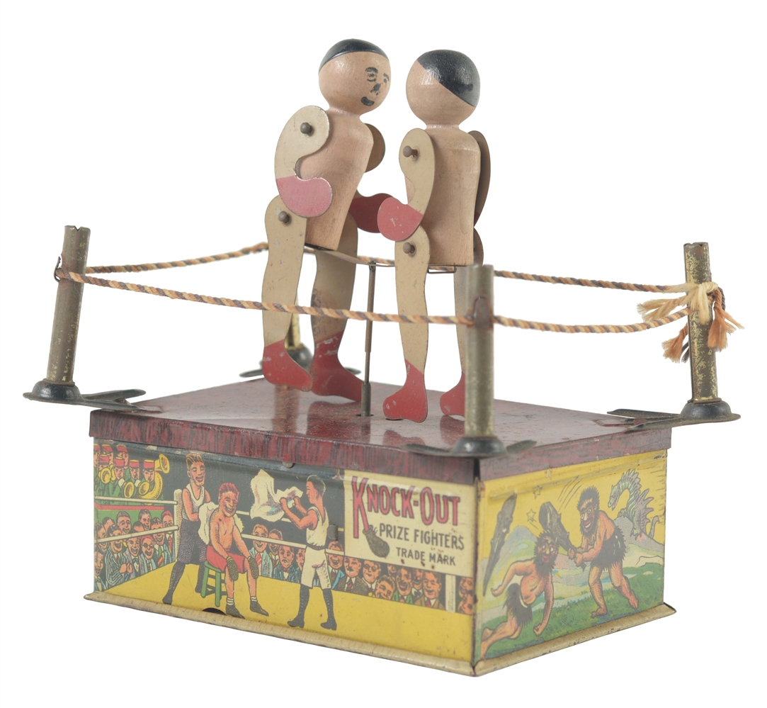 Strauss Tin Litho Knock Out Wind Up Toy.