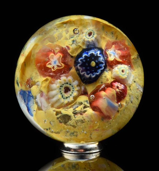 Early Single Pontil Millefiori Marble.