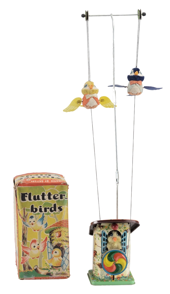 Japanese Battery Operated Flutter-Birds Toy In Box.