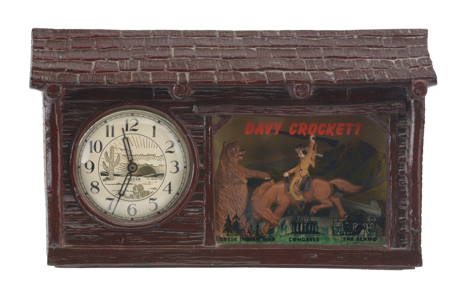 Vintage Haddon Davy Crockett Electric Clock.