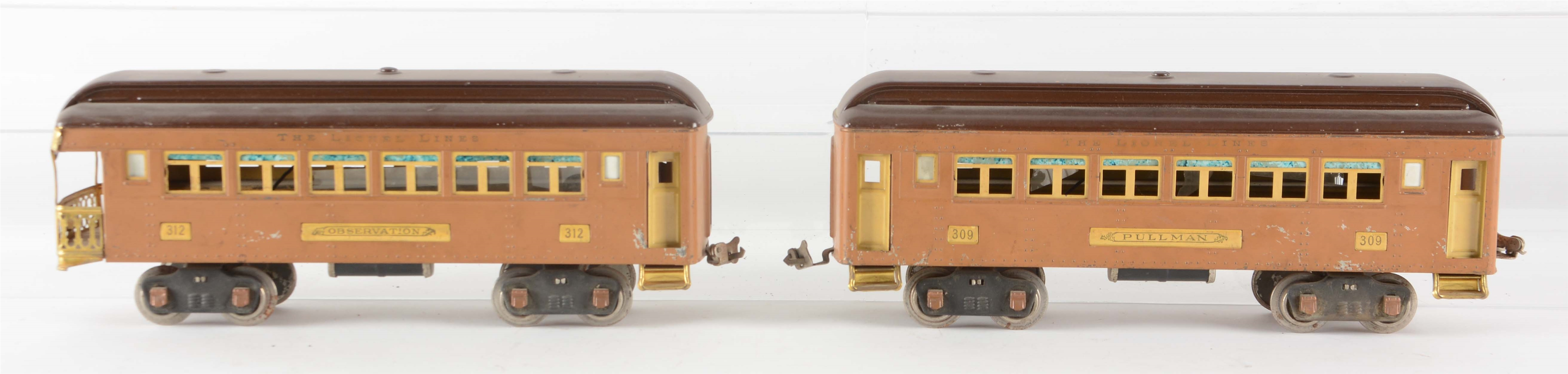 Lot Of 2: Lionel Baby State Passenger Cars.