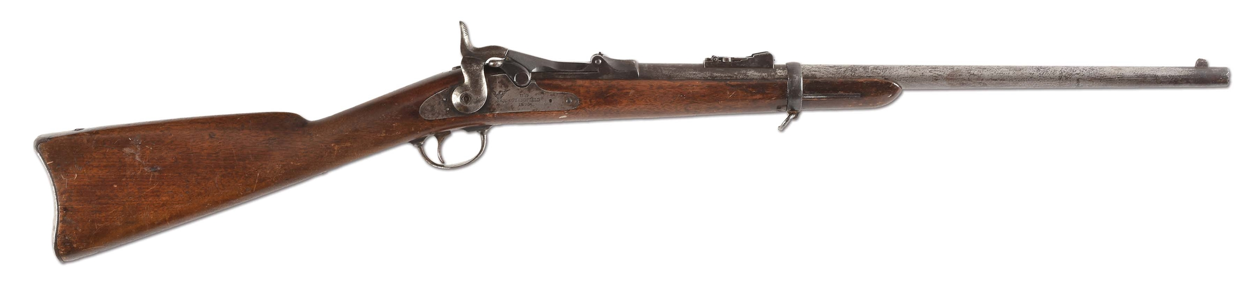 (A) THE TRUMPETEER CARBINE, FORENSICALLY CONFIRMED & SOLDIER IDENTIFIED TO THE LAST WHITE MAN TO SEE CUSTER ALIVE, CUSTER BATTLEFIELD US MODEL 1873 SPRINGFIELD TRAPDOOR CARBINE.