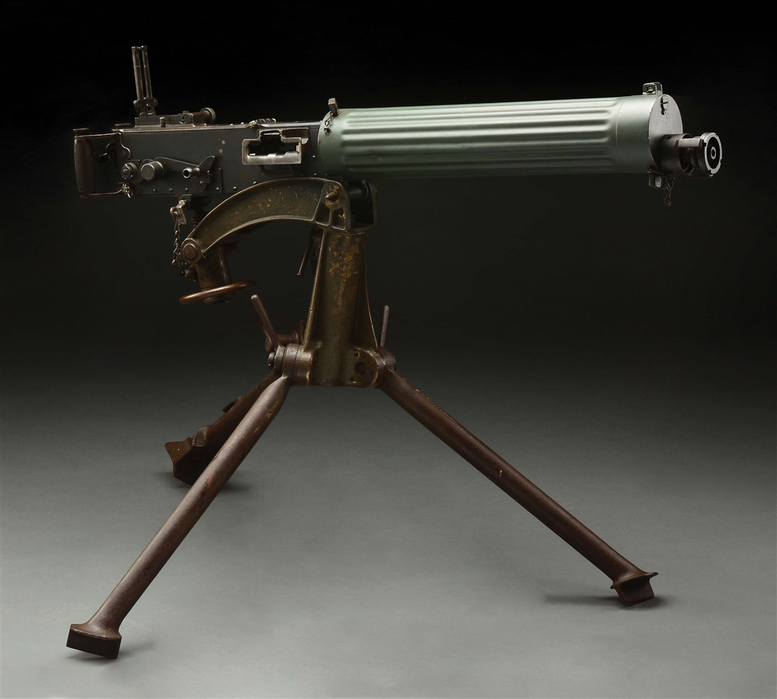 (N) FLUTED WATER JACKET WORLD WAR I BRITISH VICKERS MODEL 1915 MACHINE GUN REGISTERED BY FAKTS (FULLY TRANSFERABLE).