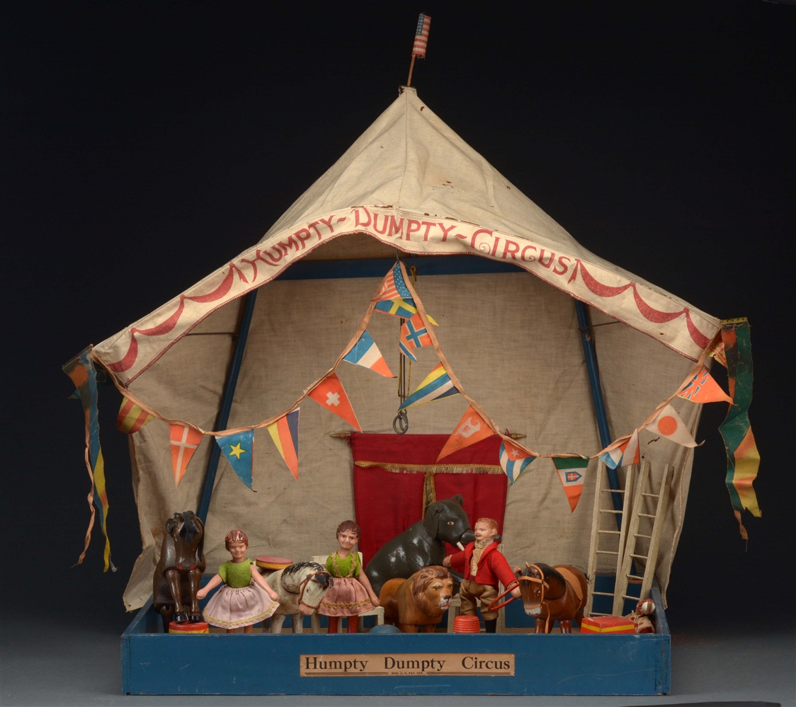 Reduced Size Schoenhut Humpty Dumpty Circus in Box.
